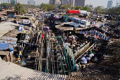 Dhobi Ghat Open-air Laundry Art Print by Mark Williamson