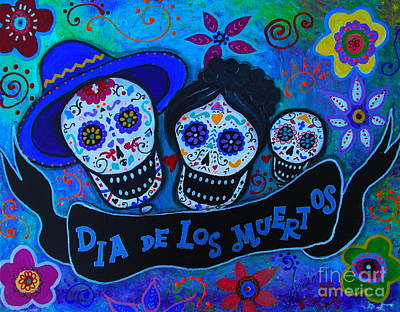 Dia De Los Muertos Familia Art Print by Pristine Cartera Turkus