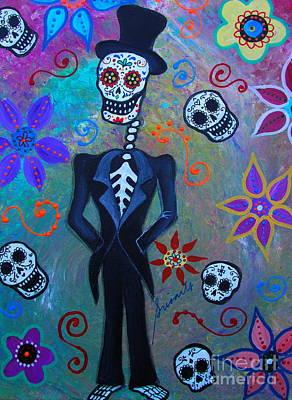 Painting - Dia De Los Muertos Professor by Pristine Cartera Turkus