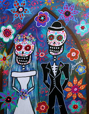 Dia De Los Muertos Wedding Print by Pristine Cartera Turkus