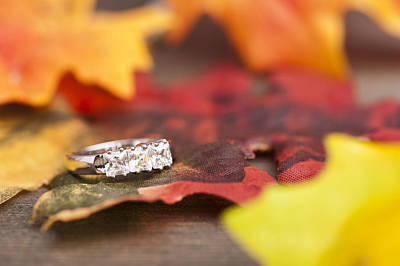 Gold Engagement Ring Photograph - Diamond Engagement Ring by Ulrich Schade