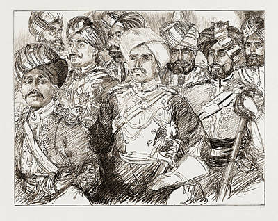 Diamond Jubilee Visitors, Uk, 1897 Officers Of The Imperial Art Print by Litz Collection