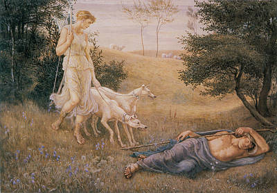 Endymion Painting - Diana And Endymion by Celestial Images