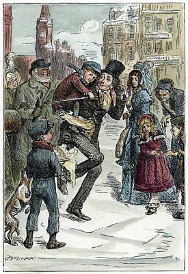 Dickens Christmas Carol, 1843 Art Print
