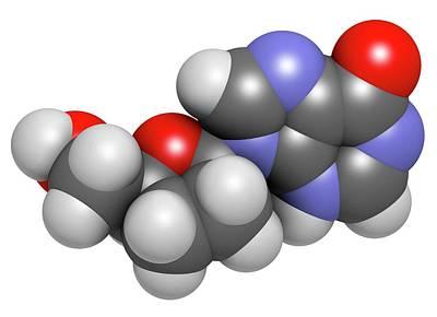 Didanosine Hiv Drug Molecule Art Print