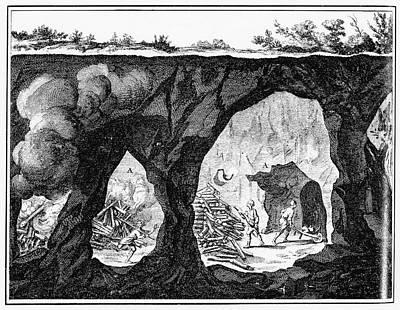 Painting - Diderot Underground Mine by Granger