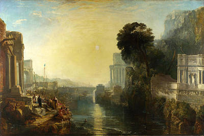 Dido Building Carthage Painting - Dido Building Carthage by Joseph Mallord William Turner