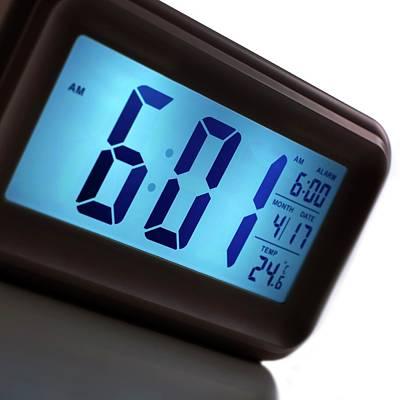 Digital Alarm Clock Art Print by Science Photo Library