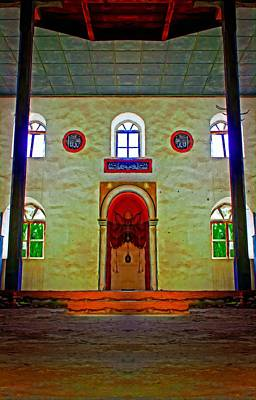 Religious Artist Mixed Media - Digital Painting Of A Colouful Derelict Turkish Mosque by Ken Biggs