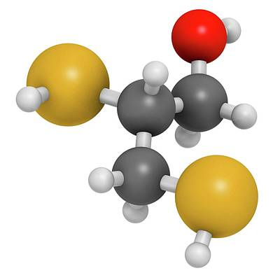 Dimercaprol Metal Poisoning Antidote Art Print by Molekuul