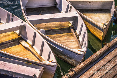 Rowboat Digital Art - Dinghies Dockside by Jerry Fornarotto