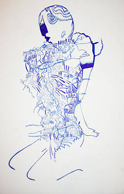 Dinka Motherhood - South Sudan Art Print by Gloria Ssali