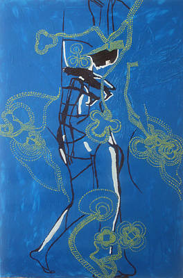 Africa Dinka Painting - Dinka Painted Lady - South Sudan by Gloria Ssali