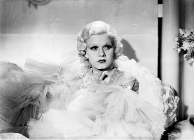 1930s Hairstyles Photograph - Dinner At Eight, Jean Harlow, 1933 by Everett