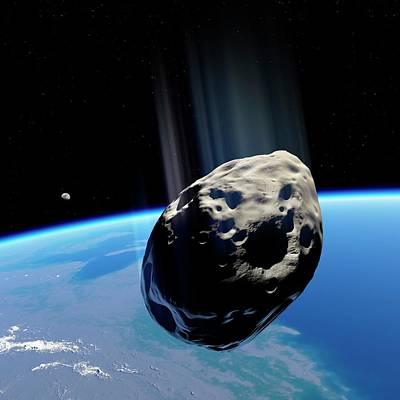 Dinosaur Extinction Asteroid Art Print