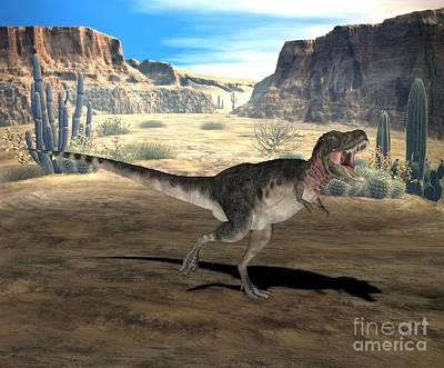 Tarbosaurus Photograph - Dinosaur Tarbosaurus by Friedrich Saurer