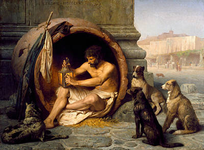 Jean-leon Gerome Painting - Diogenes by Jean-Leon Gerome