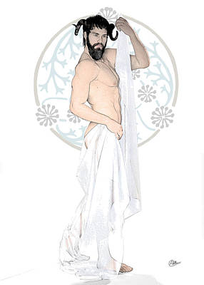 Dionysus God Of Wine Art Print by Quim Abella