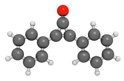 Diphencyprone Alopecia Drug Molecule Art Print by Molekuul