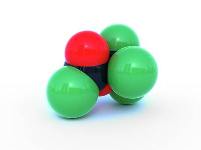 Computer Generated Photograph - Diphosgene Molecule by Indigo Molecular Images