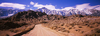 Dirt Roads Photograph - Dirt Road Passing Through An Arid by Panoramic Images