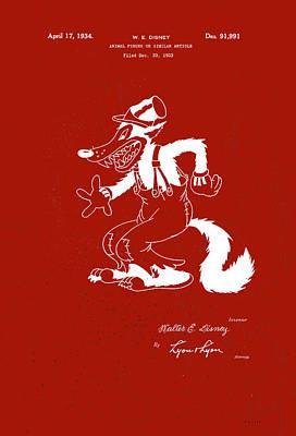 Digital Art - Disney Big Bad Wolf by Marlene Watson