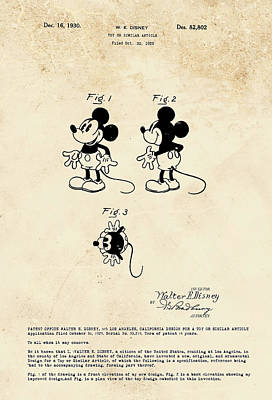 Digital Art - Disney Mickey Mouse by Marlene Watson