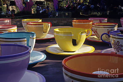 Photograph - Disneyland Rides Mad Tea Party Ride Anaheim California Usa by Jim Corwin