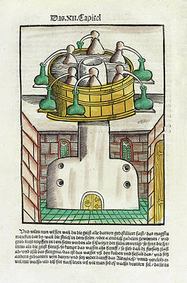 Distillation Apparatus Art Print by National Library Of Medicine
