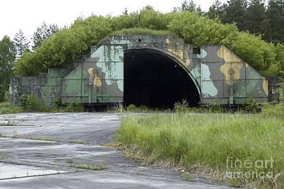 Disused Hardened Aircraft Shelter Art Print by RIA Novosti
