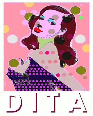 Dita Art Print by Ricky Sencion