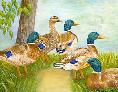 Painting - Diva Duck And The Mallards by Jeanne Kay Juhos