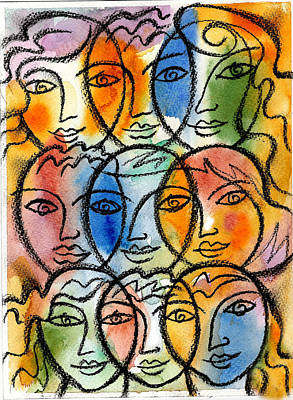Collaboration Painting - Diversity by Leon Zernitsky