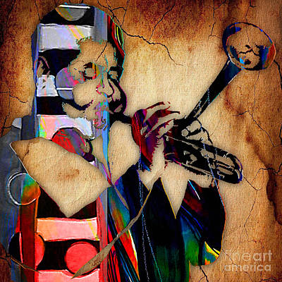 Trumpet Digital Art - Dizzy Gillespie Collection by Marvin Blaine