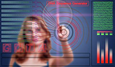 Dna Sequence Generator Art Print by Wladimir Bulgar