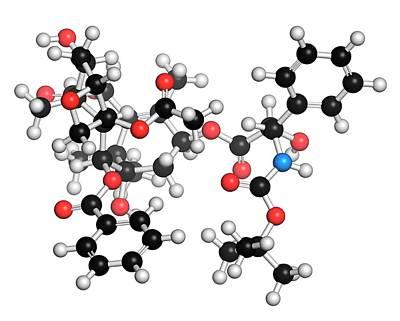 Docetaxel Cancer Drug Molecule Art Print