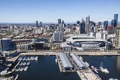 Photograph - Docklands And Etihad Stadium, Melbourne by Brett Price