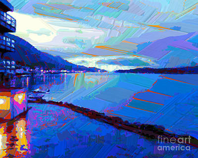 Painting - Dockside Evening by Dorinda K Skains