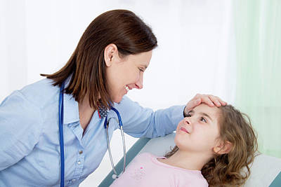 Child Care Photograph - Doctor Caring For Girl by Lea Paterson