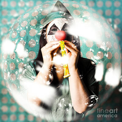 Photograph - Doctor Clown Blowing Party Horn At Monster Party by Jorgo Photography - Wall Art Gallery