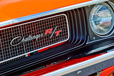 Rt Photograph - Dodge Challenger Rt Grille Emblem by Jill Reger
