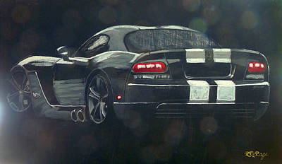 Painting - Dodge Viper by Richard Le Page