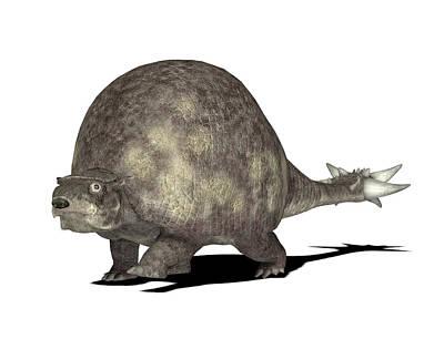 Paleozoology Photograph - Doedicurus Prehistoric Mammal by Friedrich Saurer