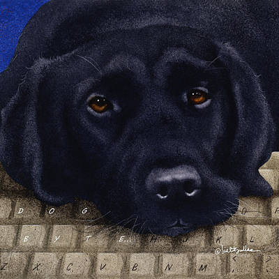 Labrador Painting - Dog Byte... by Will Bullas