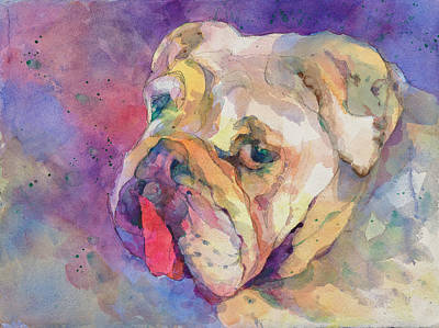 Wall Art - Painting - Dog-tired by Beverly Berwick