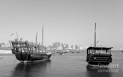 Photograph - Doha Museum Dhow Display by Paul Cowan