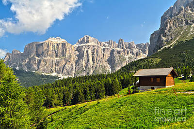 Dolomiti - High Fassa Valley Art Print
