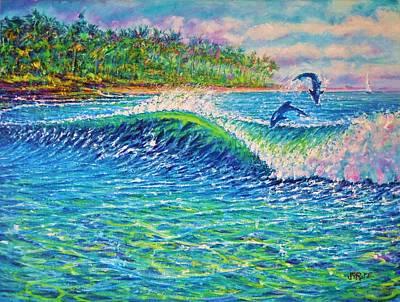 Dolphin Play Art Print