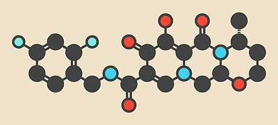 Dolutegravir Hiv Drug Molecule Art Print