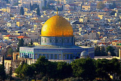 Jerusalem Photograph - Dome Of The Rock by Stephen Stookey